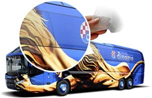 Bus with wrap design