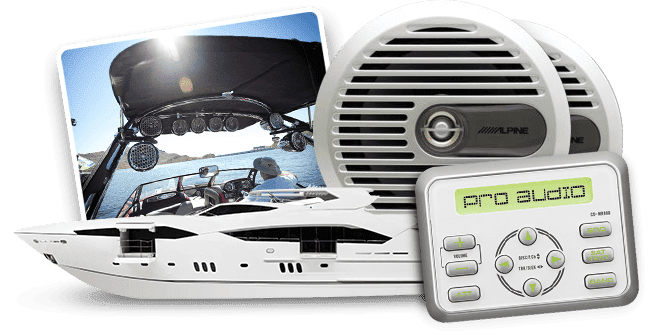 Yacht and marine audio systems