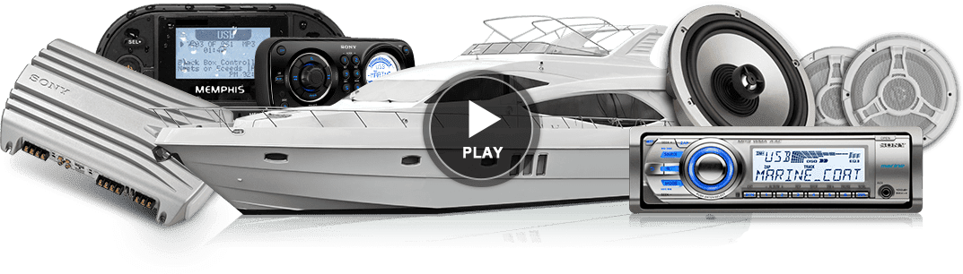 Boating audio systems and a Yacht