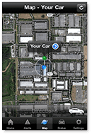 Map location of a car.