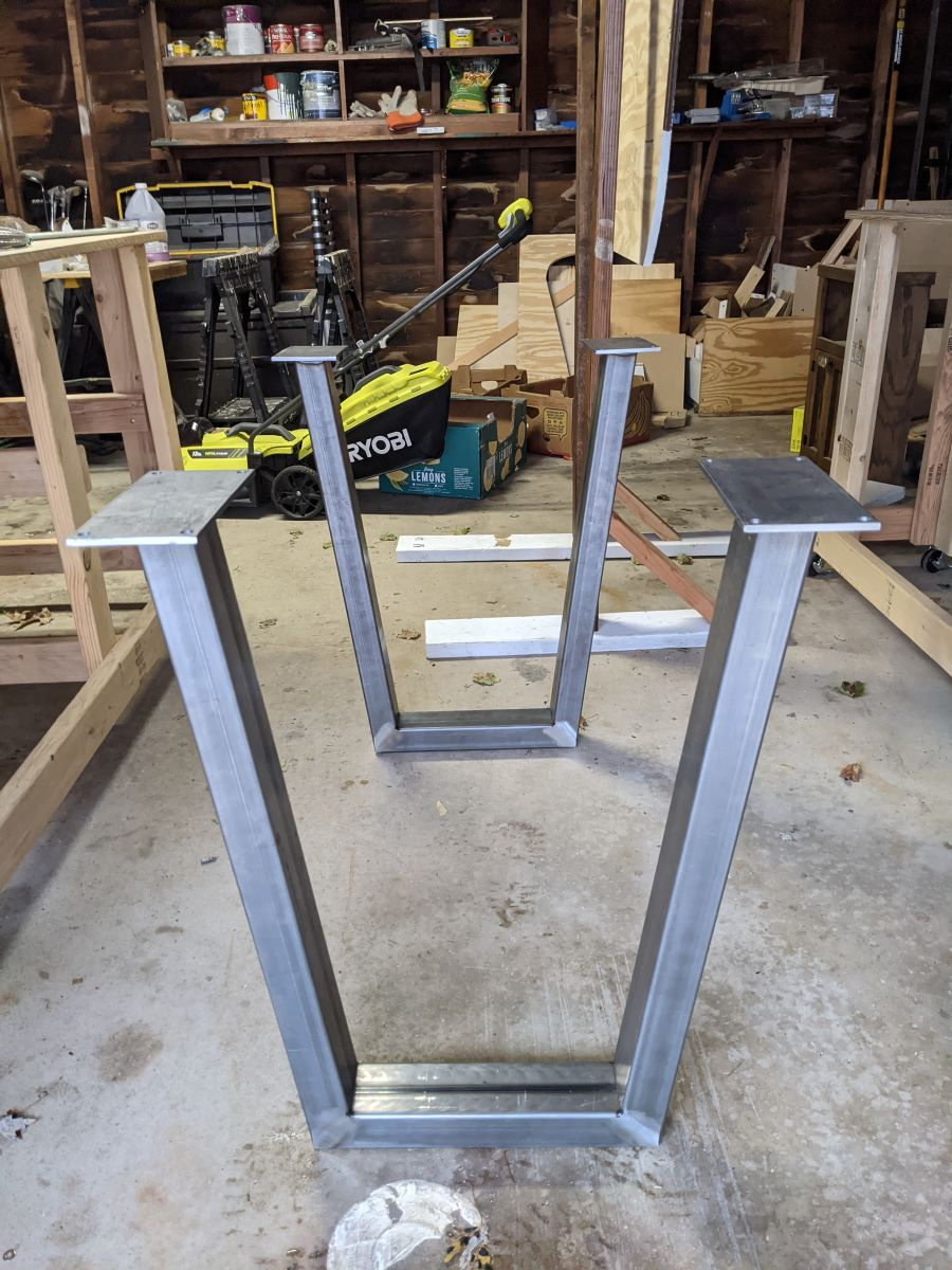 The table legs out of the box