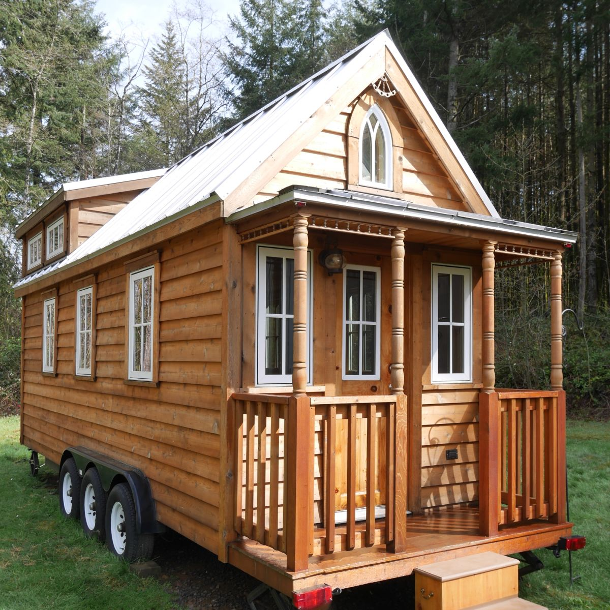 Charming Tumbleweed Tiny House on Wheels with 23 sleeping lofts! - Tiny  House Trailer for Sale in Kelso, Washington - Tiny House Listings