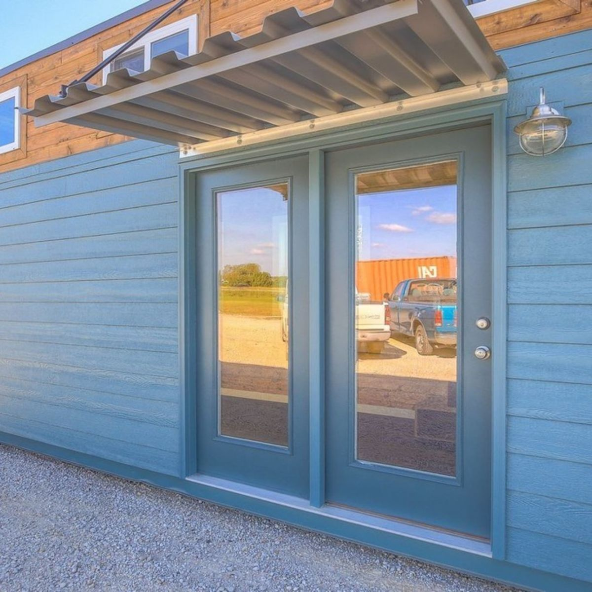 40' Container Home With Front Porch