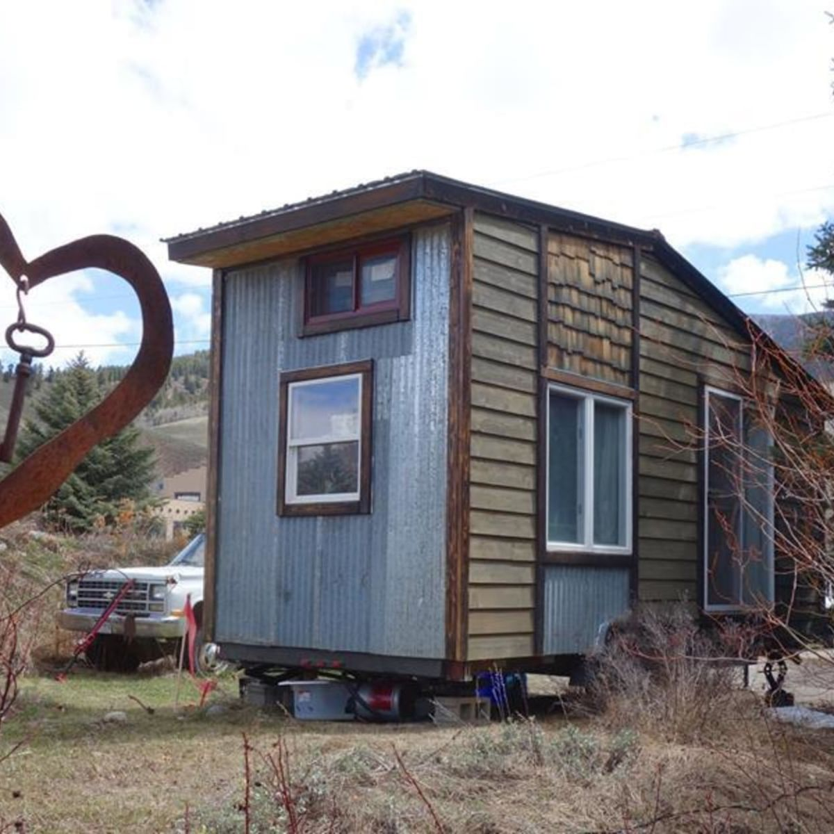 20 x 8 ft minimalist tiny house on trailer