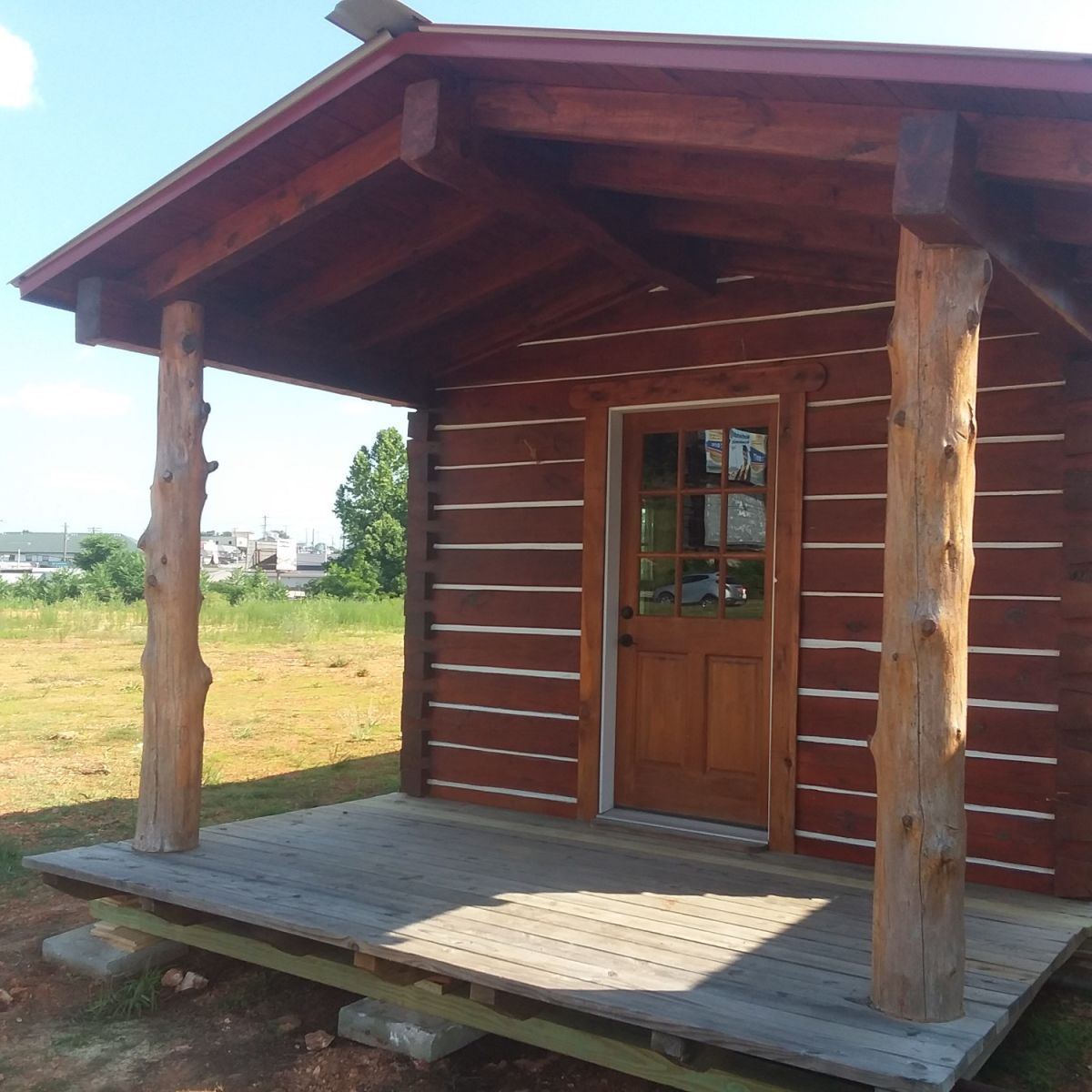12 Ft X 30 Ft Portable Log Cabin Tiny House Shell For