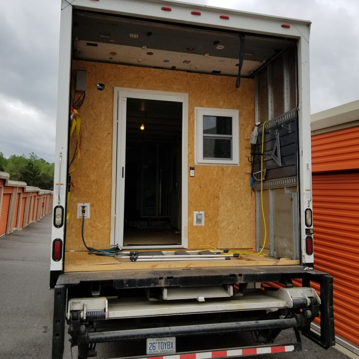 Box Truck Conversion Project Tiny House Shell For Sale