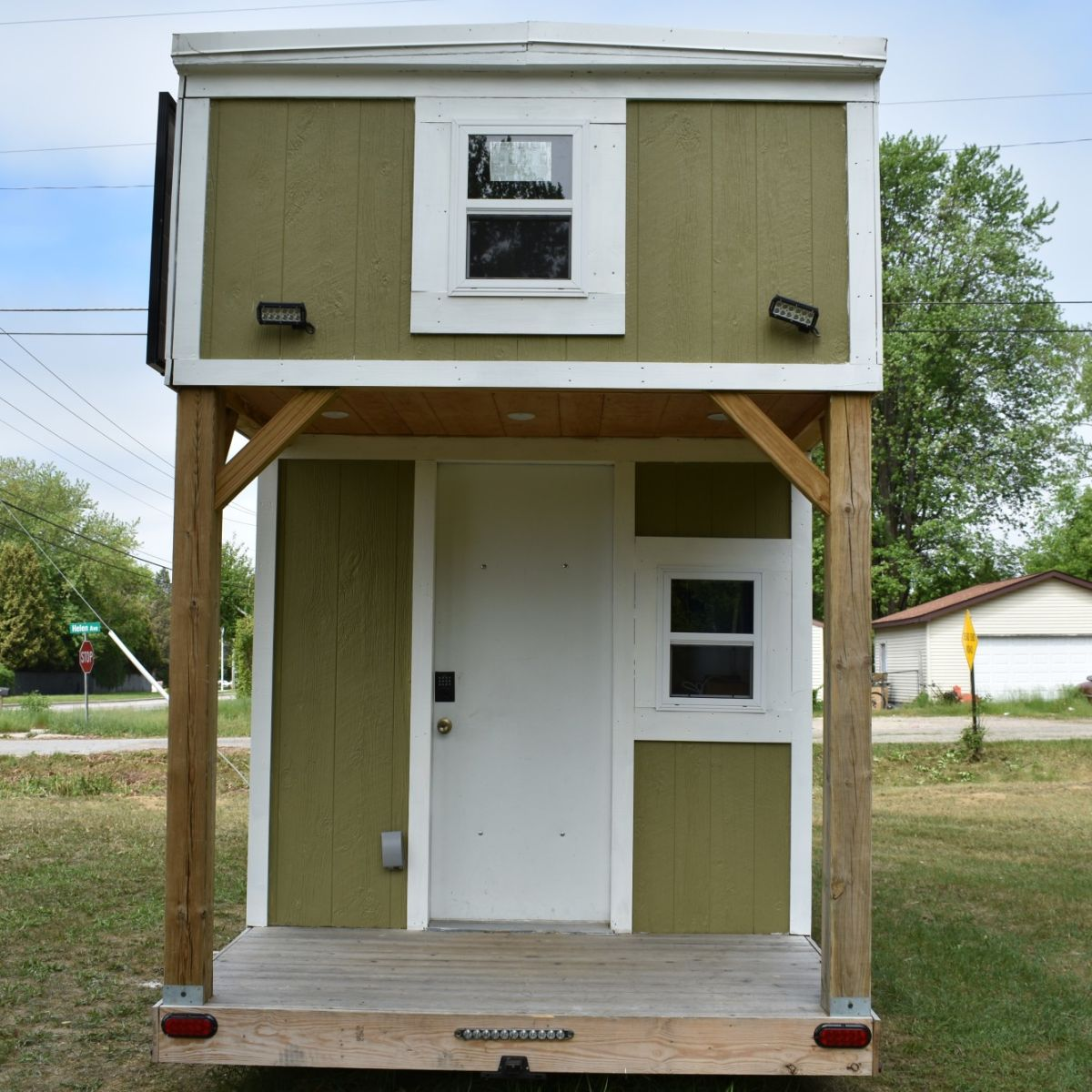 New Off Grid Tiny Home With Solar Panels And Batteries