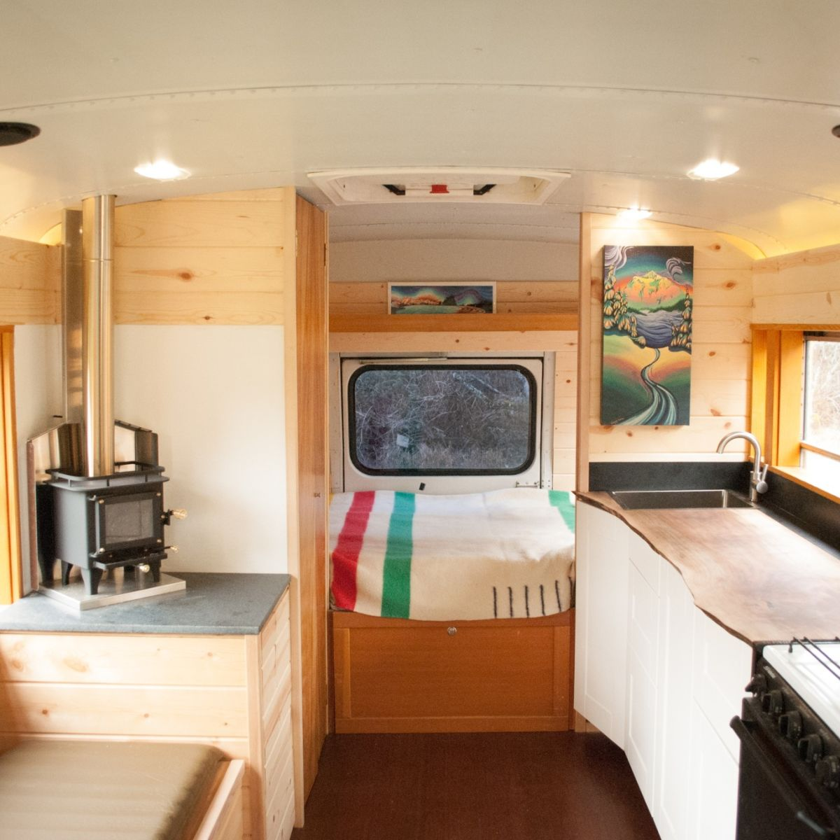 Beautiful Off Grid Ready Skoolie Conversion Converted