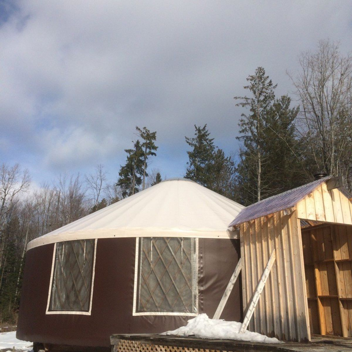 Yurt And Land In Central Vt Tiny House For Sale In