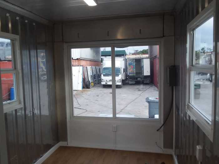 320 Sq Ft Refrigerated Shipping Container Conversion