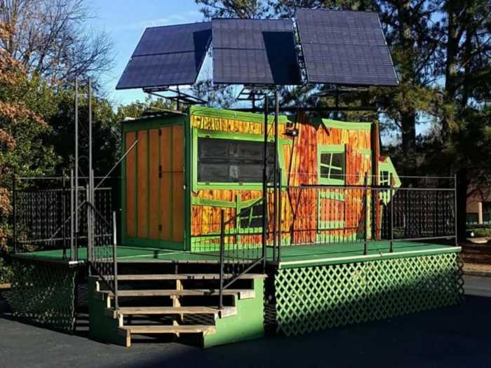 mobile solar powered tiny house business with stage tiny house for sale in norcross georgia. Black Bedroom Furniture Sets. Home Design Ideas