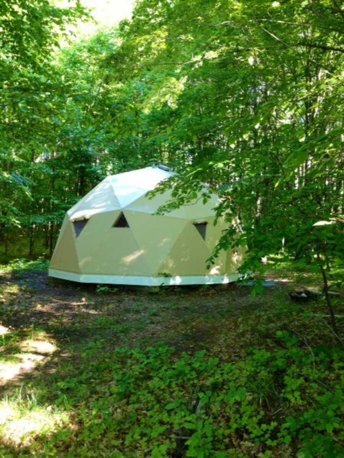 24 Ft Dia Geodesic Dome Tiny House For Rent In Seattle