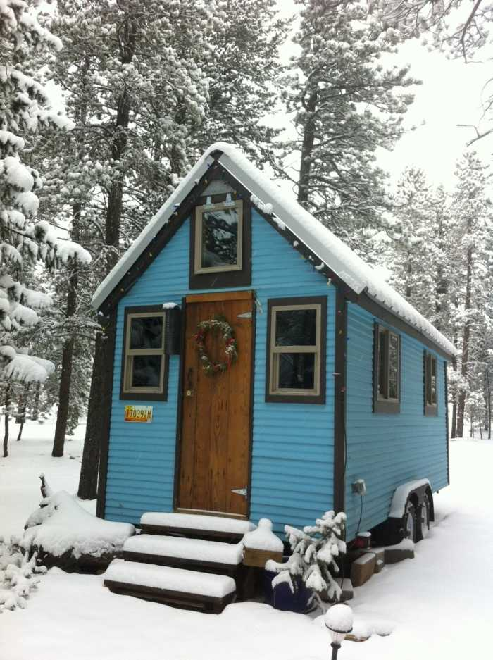 Tiny Blue House Tiny House For Rent In Nederland