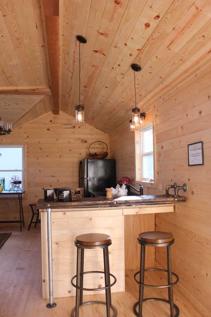 Cozy Rustic Home On Skids Mobile Tiny House For Sale