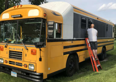 Off-Grid Bus Conversion - Cabin On Wheels - Converted Bus for Sale
