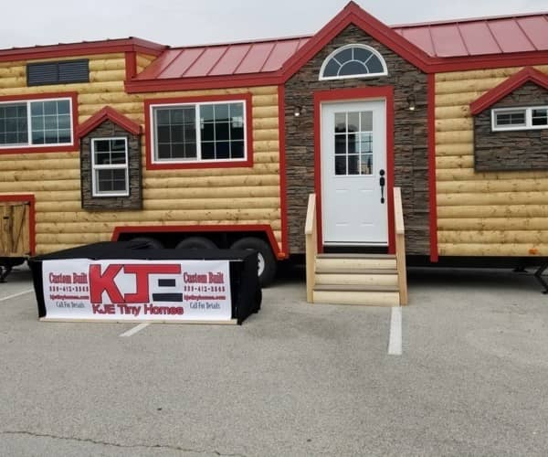 CUSTOM 33Ft Log Cabin Style Tiny House  Price REDUCED!