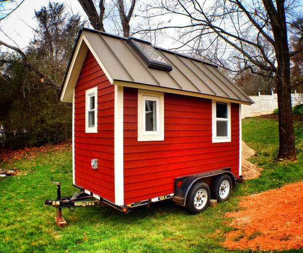 The Little Red House Tiny House for Sale in Asheville North