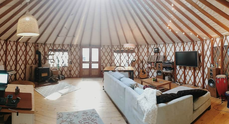 24 Pacific Yurt Deck Wood Stove And Snow Wind Kit