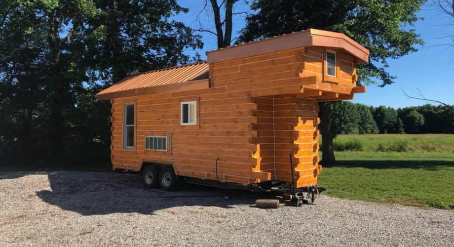 the perfect log cabin tiny home for youavailable now