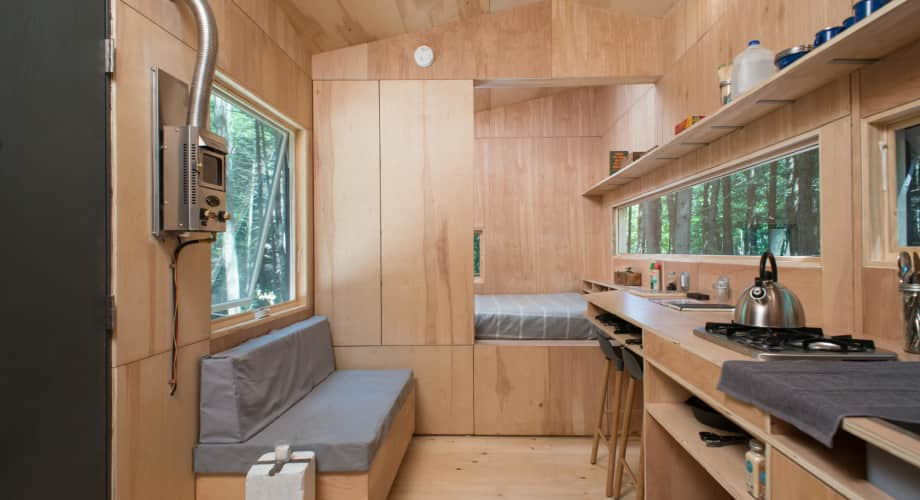 Custom Built Tiny House In New Hampshire With Minimalist Interior Design