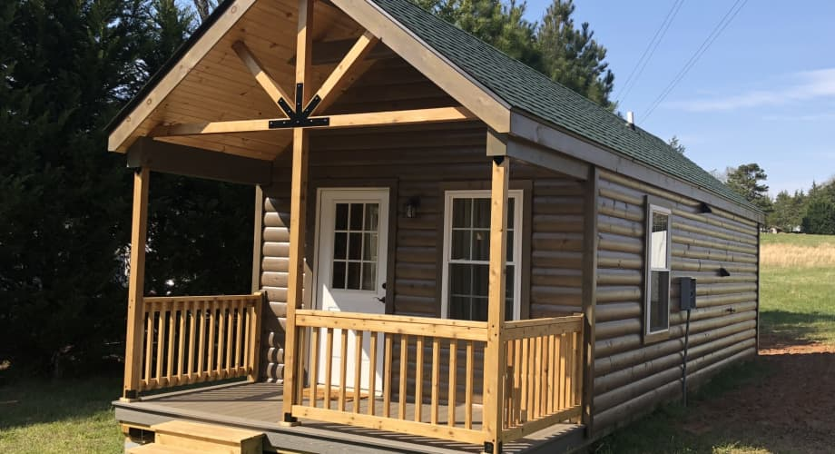Charming log cabin style modular home - Tiny House for Rent in Due West,  South Carolina - Tiny House Listings