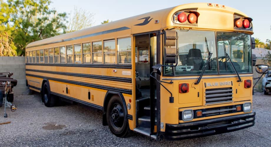 40 Ft Skoolie School Bus Tiny House Shell For Sale In