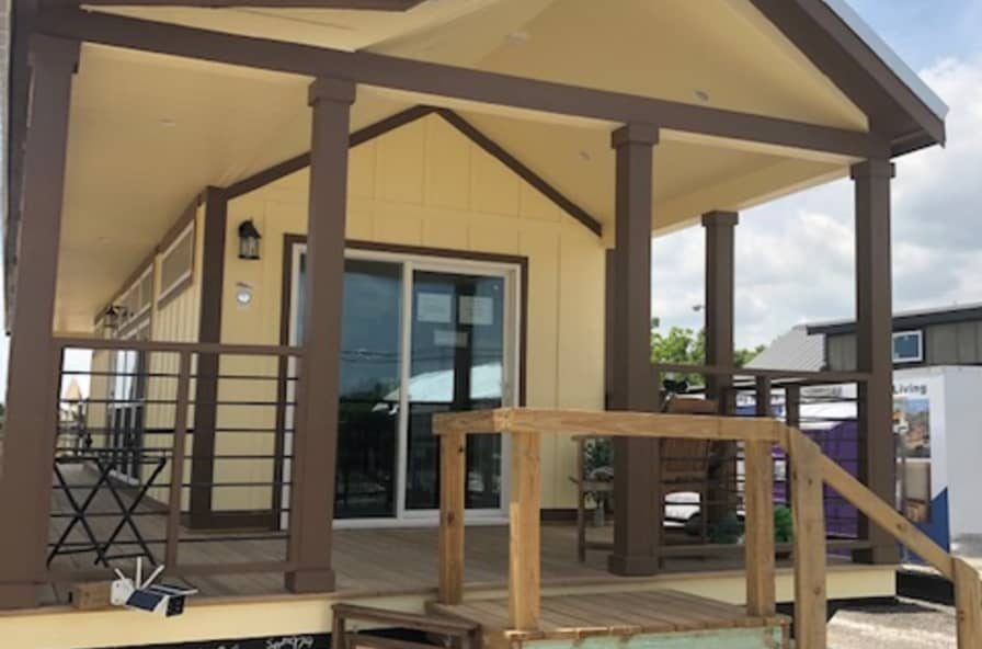 Wrap Around Porch Park Model Rv 2 Bed 1 Bath Park Model For Sale In Mansfield Texas Tiny House Listings
