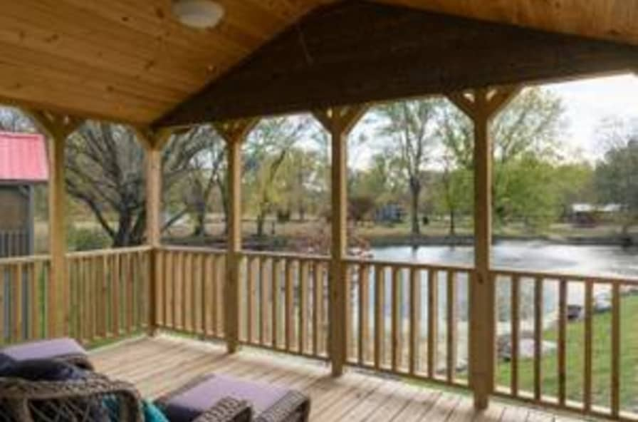 Waterfront Fully Furnished Tiny House With Wrap Around Porch Move Or Leave In Place Tiny House For Sale In Asheville North Carolina Tiny House Listings