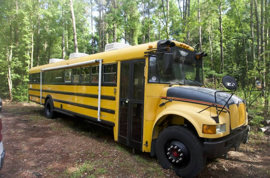 Converted Cabin Style School Bus Skoolie! - Converted Bus for Sale in  Riegelwood , North Carolina - Tiny House Listings