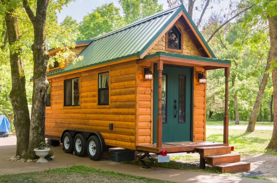 Tiny House Log Cabin on Wheels - Tiny House for Sale in Troy, Missouri -  Tiny House Listings