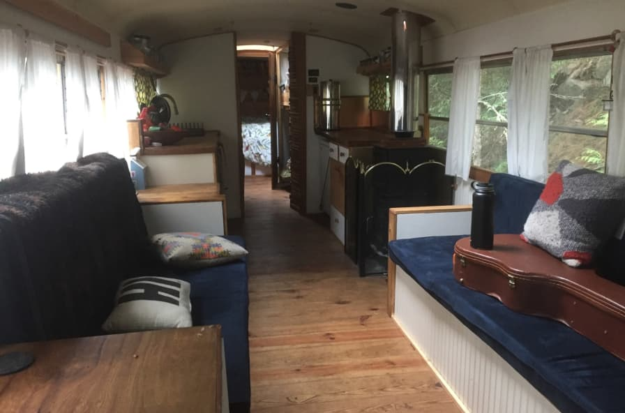 Beautiful Skoolie - Converted Bus for Sale in Anacortes, Washington - Tiny  House Listings