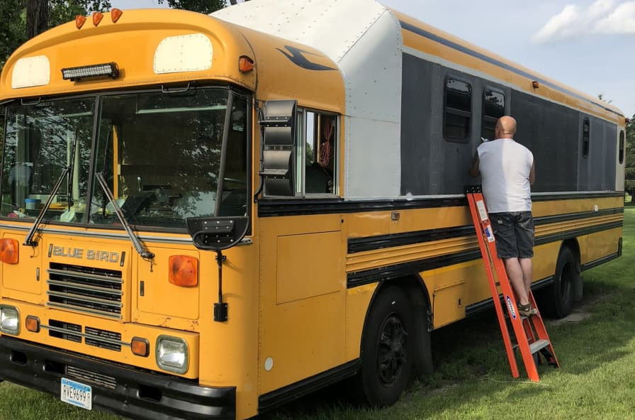 Bluebird Skoolie - Converted Bus for Sale in Minneapolis, Minnesota - Tiny  House Listings