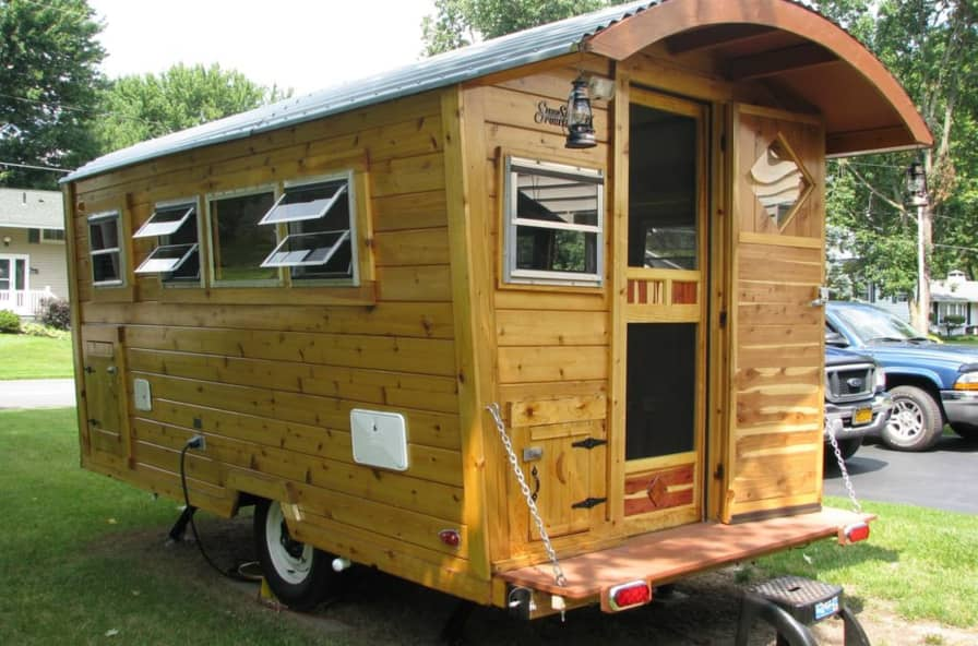 Cedar Cabin (Shepherd's Hut) Travel Trailer/micro-house - Tiny House for  Sale in Branford, Florida - Tiny House Listings