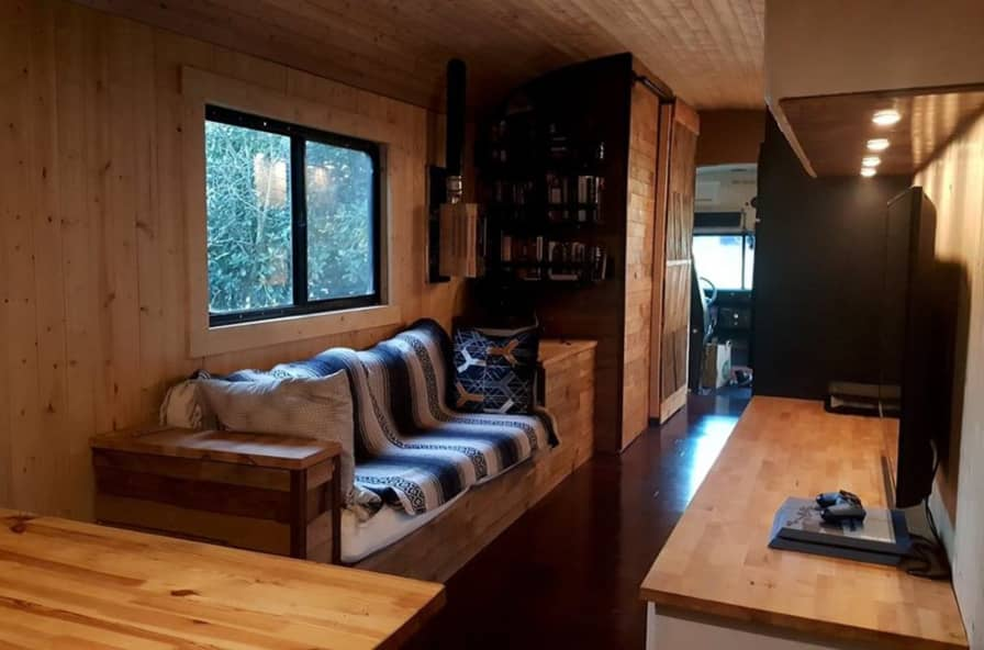 Modern School Bus Conversion - Converted Bus for Sale in Austin, Texas -  Tiny House Listings