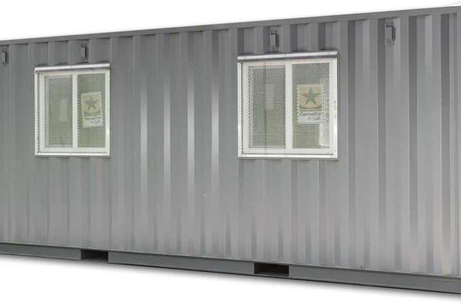 20' Shipping Container Office with Storage (includes delivery: NY, NJ, PA,  New England) - Container Home for Sale in Newark, New Jersey - Tiny House
