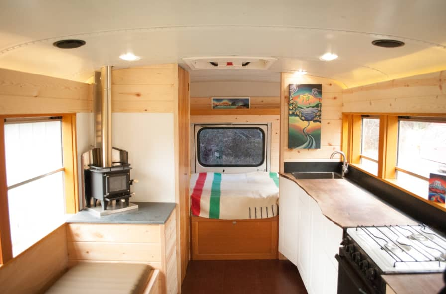 Beautiful Off-Grid Ready Skoolie Conversion - Converted Bus for Sale in  Bellingham, Washington - Tiny House Listings