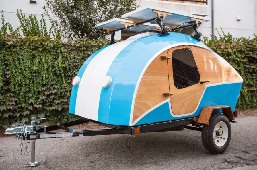 Terrific Homebuilt Wood And Fiberglass Clc Teardrop Camper Camper For Sale In Sherman Oaks California Tiny House Listings Download Free Architecture Designs Scobabritishbridgeorg