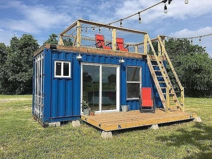 20 39 rustic retreat shipping container tiny house for sale in houston texas tiny house listings. Black Bedroom Furniture Sets. Home Design Ideas