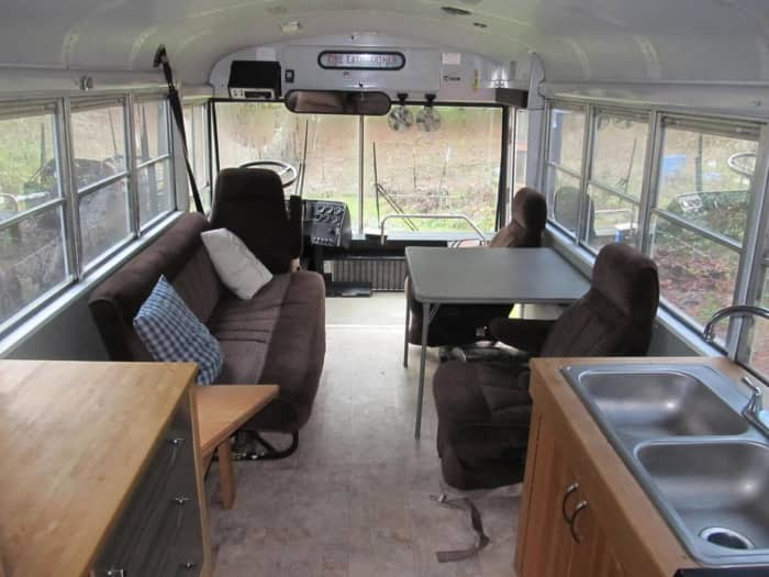 Diesel Pusher For Sale Washington >> Converted School Bus for Sale - Tiny House for Sale in Olympia, Washington - Tiny House Listings