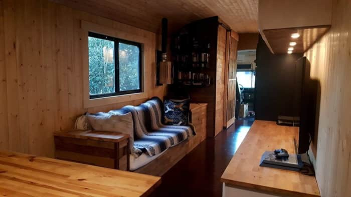 Modern School Bus Conversion Tiny House For Sale In