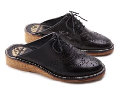 Slippers Tofflor Brogues Mats Theselius Svart