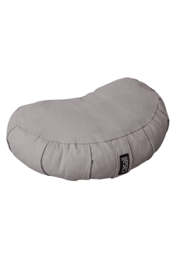 Meditation pillow halfmoon shape – Warm grey