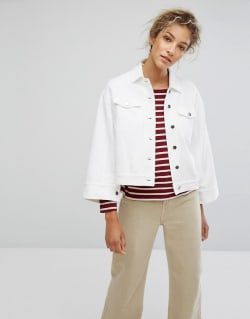 newest 08127 b7c7c So stylen wir weiße Jeansjacken jetzt