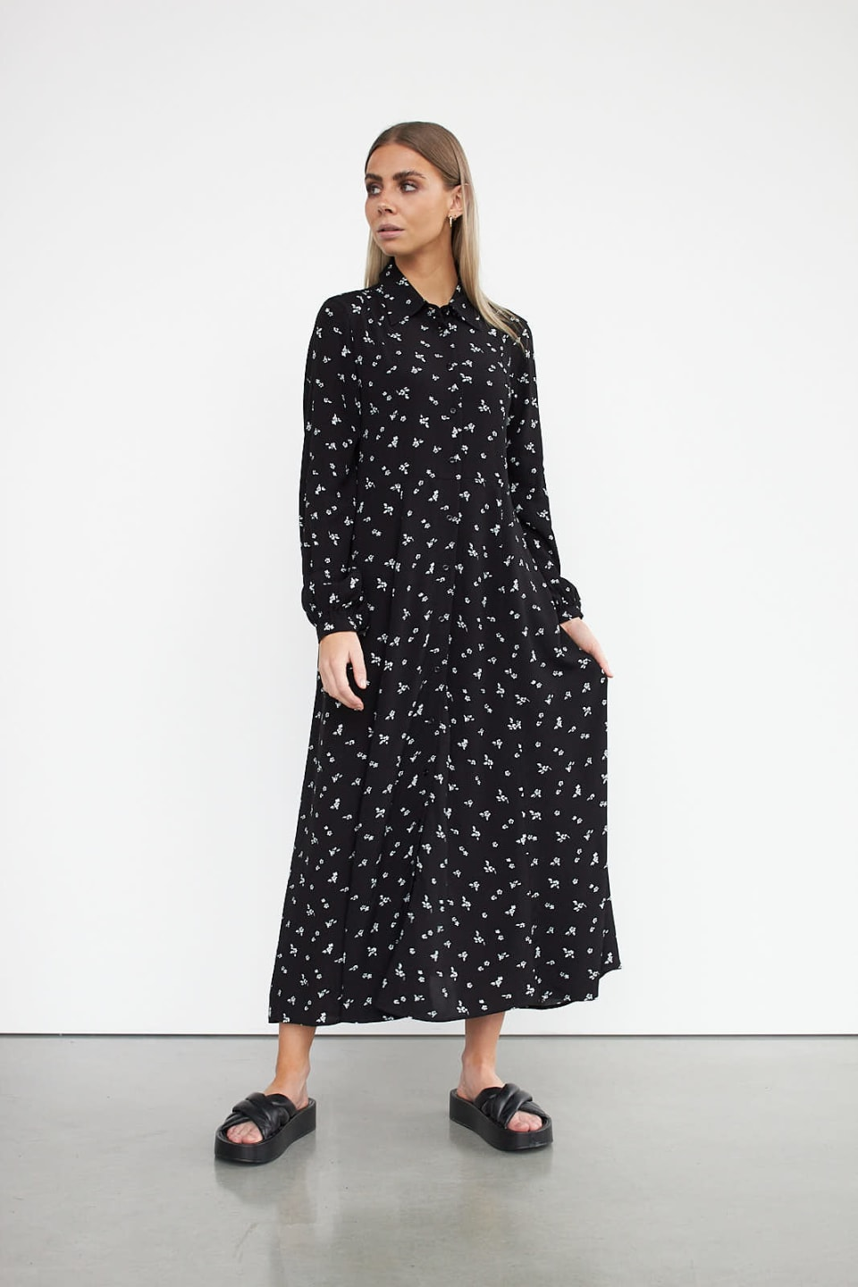 WBLCANDY MAXI SHIRT DRESS LS