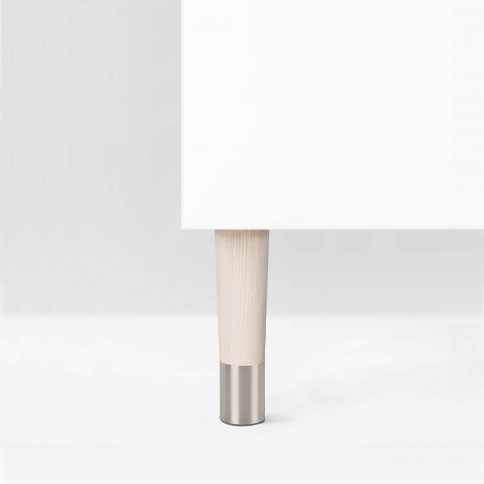 Möbelbein aus Eschenholz mit Stahlfuß: Arvid Slim 170