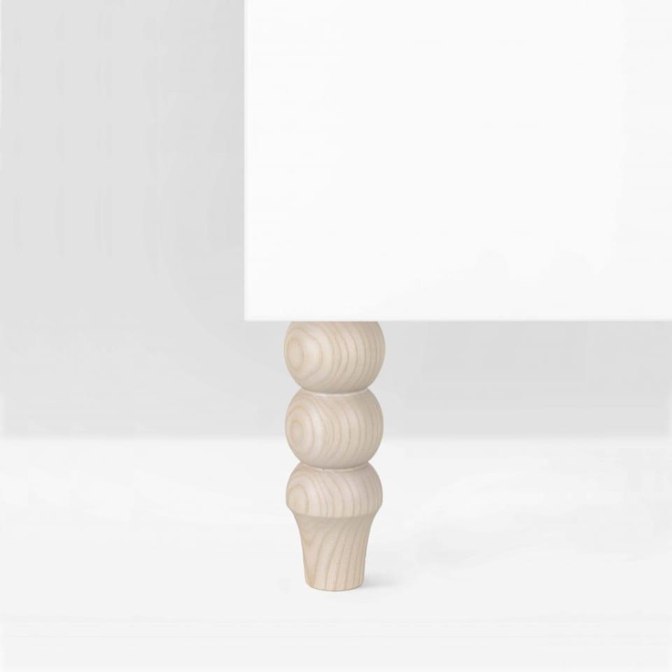 Möbelbein aus Eschenholz: Siri 160