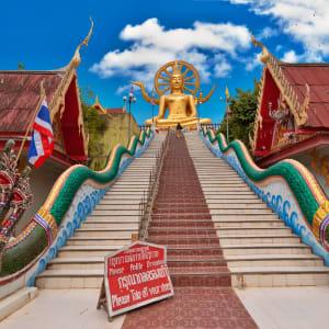 Ayutthaya & Mae Klong ab Bangkok: 1th-big-buddha-statue-in-wat-phra-yai-temple-koh-samui-st-2017-Vitaly Titov