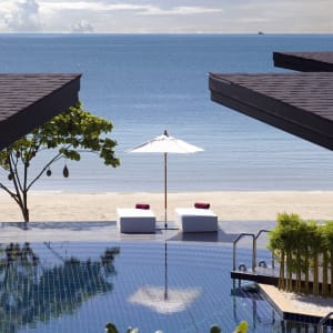Ayutthaya & Mae Klong ab Bangkok: beach: Thailand Aava Resort & Spa Strand