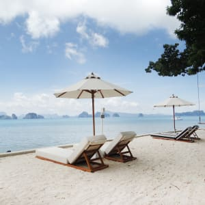 Ayutthaya & Mae Klong ab Bangkok: beach: Thailand Cape Kudu Hotel Strand