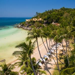 Ayutthaya & Mae Klong ab Bangkok: beach: Thailand Ko Tao Cabana Strand
